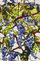 WISTERIA Privacy Stained Glass Window Film Decorative Vinyl Static Cling Films