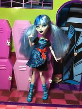 MONSTER HIGH Bambola-Ghoulia Yelps-Freaky Fusion DRACULAURA-ottime condizioni