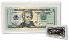 Lot of 10 NEW Currency Bill Holders Deluxe HEAVY DUTY plastic SLABS Snap Closure