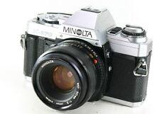 Vintage MINOLTA X-370 35mm SLR Film Camera + 50mm MD Lens