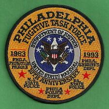 UNITED STATES MARSHAL PHILADELPHIA FUGITIVE TASK FORCE POLICE PATCH