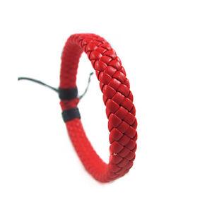 Men's Women's Wrap Braided Leather Bracelet Cuff Bangle Adjustable Wristband