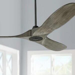 Monte Carlo Maverick II 3 Blade 52 In Ceiling Fan w Handhld Control Aged Pewter