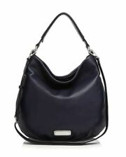 NWT MARC by MARC JACOBS New Q Hillier Hobo Leather Shoulder Bag INK Blue AUTHNTC