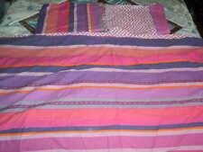 Debenhams purple mix stripes double reversible duvet cover set
