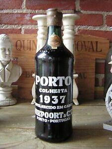 vin weine wine wijn Niepoort Colheita Vintage 1937 Porto. Bottled 1972. 82 Ans.