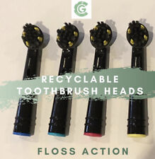 8 Oral B Braun Floss Action Style Electric Toothbrush Heads, 100% Recyclable