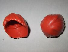 01281, 2x Haare, Steinzeitfrau, orangebraun