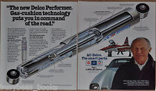1984 AC-Delco 2-page advertisement, shock absorber, with CHUCK YEAGER