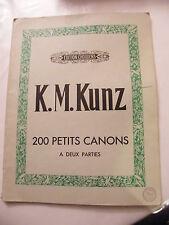Partition 200 piccoli pistole KM Kunz Edizione Choudens