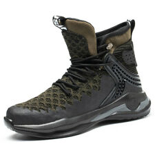 Mens Steel Toe Work Safety Shoes Army Sports Nonslip Waterproof Reflective Boots