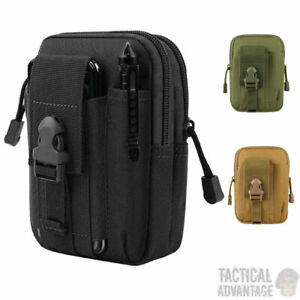 Molle Utility Admin Tool Pouch Belt Bag Army Military Black Green Tan Medic UK