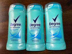 Degree Dry Protection Womens Deodorant Shower Clean Invisible Solid X3