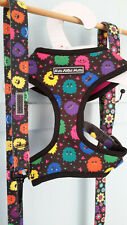 Monsters dog collar, lead, harness small, medium, large FREE SHIPPING AUS!