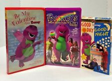 Lot of 3 BARNEY VHS Tapes Be My Valentine Great Adventure Good Day Good Night
