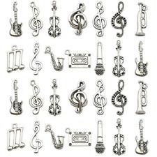 70Pcs Music Charm Collection Wholesale Bulk Lots Instrument Music Notes Charms