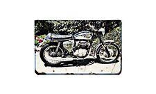 Bsa A65L Motorbike Sign Metal Retro Aged Aluminium Bike