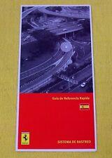 Ferrari Owners Handbook RARE Supplement - Security NavTrack - Spanish Text 2007