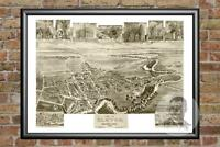 Old Map of Elkton, MD from 1907 - Vintage Maryland Art, Historic Decor