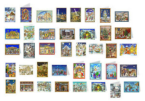 Richard Selmer Mini Advent German Cards 105 x 155 mm small letter