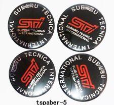 JDM 4pcs 65mm for S-T-I Wheel Hub Caps Sticker Center Cover Racing Sport Sticker