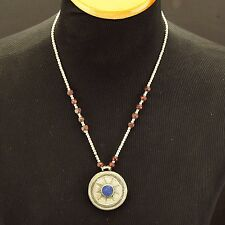 BLUE Lapis Genuine Stone KUCHI Tribe BellyDance Asian NECKLACE 800b7