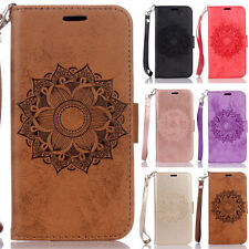 Mandala Card Wallet Leather Skin Flip Case Cover For iPhone 5 5S 6 6S 7 8 Plus X