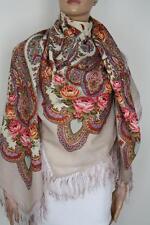 Pawlow(Pavlov) Posad russischer Schal-Tuch Tradition146x146 Wolle 1567-2
