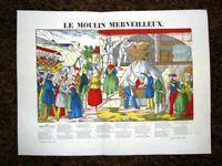 Le Moulin Merveilleux - I miracoli del mulino Charles Pellerin Epinal Anno 1890