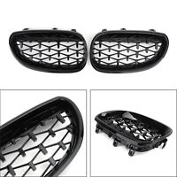 Pair Left+Right Diamond Grille de calandre Pour 2003-2010 BMW E60 E61 5 Series