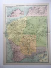 1930 Large Map Western Australia Commonwealth Goldfield Kimberley Euela