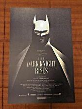The Dark Knight Rises Batman Olly Moss - Mondo