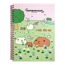 Tryworks Kapybara san Hard Cover College Ruled Notebook Note Pad : Flower