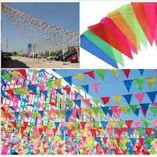 10m Bunt Flagge Wimpelkette Wimpelgirlande Girlande Party Geburtstag Deko Xmas