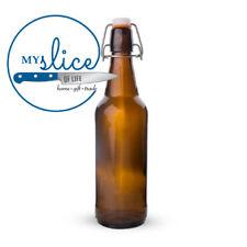 Mangrove Jack's 12 x 500ml Flip Top Amber Bottles - Home Brew