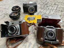Lot 3 - 35mm vintage cameras; Zeiss Ikon, Kodak Retina Iiic, Retina Reflex Nr