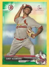 2017 Bowman Baseball Sandy Alcantara Rookie Green Parallel Cardinals 43/99