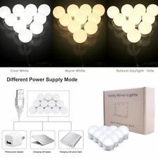 Hollywood Vanity Makeup Mirror Lights 10 Led Dimmable Bulbs Bathroom 3 Colors