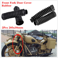 205X30mm Rubber Dust Cover Boots Gaitors Gaiters For Motorcycle Front Fork 2Pcs