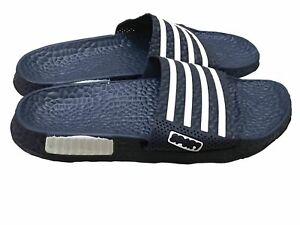Mens Slip On Sport Sandals Slides Rubber Flip Flops Shower Slippers Navy 10