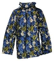 Susan Graver Women's Sz M Water Resistant Packable Anorak Jacket Black A374240
