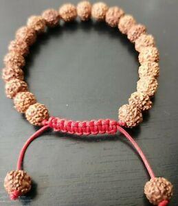 good luck fortune  rudraksha adjustable  bracelet