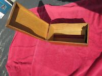 Vintage Weis Wooden  Index Card File, Office or Recipe Box, Dovetailed