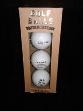 Tee-riffic Dad Golf Balls 3 Pack New In Box Father's Day Gift Noble Supply Co.