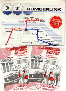 East Yorkshire bus timetable leaflets x 14