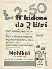 Y1062 Gargoyle MOBILOIL - Il bidone da 2 Litri - Pubblicità 1930 - Advertising