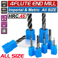 10Pc Carbide End Mill 4 Flute TiAlN Coated Micrograin Carbide Slot Drill 1.5-6mm