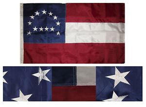 4x6 Embroidered Sewn General Robert E. Lee 300D Nylon Flag 4'x6' Grommet Banner