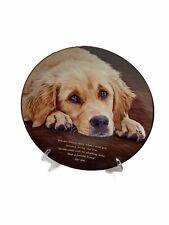 "Cherished Golden Retriever Dog Plate ""Faithful Friend� Danbury Mint Collection"