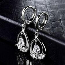 Impressive Accessorize Silver Gold Filled White Swarovski Crystal Dangle Earring